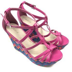 Diba Wedge Crochet Sandals Heels Shoes